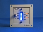 12V CHARGE METER - BAR GRAPH VOLTMETER blue, detailed