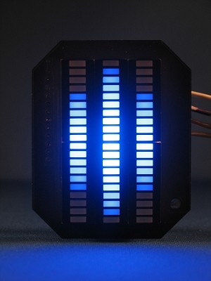 Knight Rider Mini Vbox Display Blue Kitt Led Vu Meter
