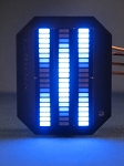 Knight Rider MINI Vbox Display - BLUE KARR LED VU-meter