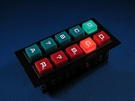 Knight Rider LIGHTED PUSH BUTTONS SET - S1Lower Console