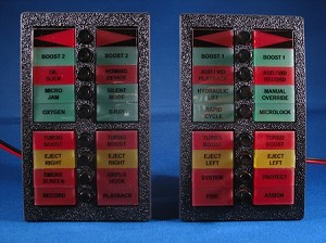 Knight Rider Switchpod Displays - S34 - CL - w/labels